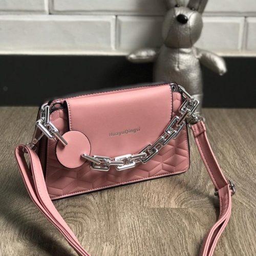 JT6622-pink Tas Selempang Model Chain Import Terbaru