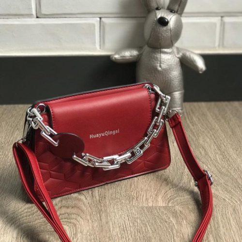 JT6622-red Tas Selempang Model Chain Import Terbaru