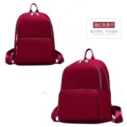 JT6625-red Tas Ransel Wanita Stylish Modis Import Terbaru