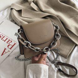 JT66501-khaki Tas Selempang Wanita Cantik Modis Terbaru