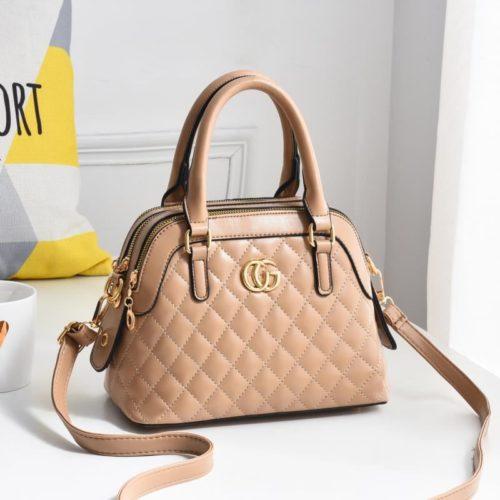 JT6661-khaki Tas Handbag Pesta Elegan Import Terbaru