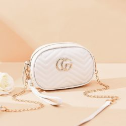 JT68501-white Tas Mini Slingbag Cantik Imut Terbaru
