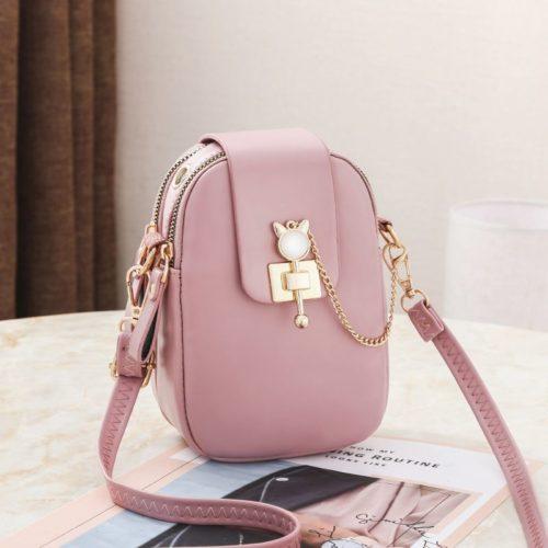 JT68621-pink Tas Sling Dompet Handphone Mini Elegan