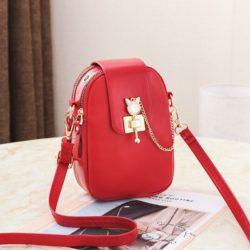 JT68621-red Tas Sling Dompet Handphone Mini Elegan