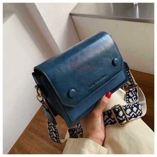 JT6953-blue Tas Selempang Fashion Wanita Elegan Terbaru