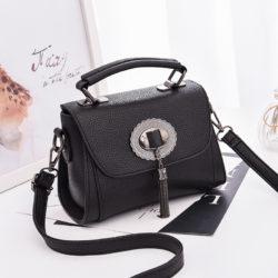 JT6972-black Tas Handbag Tali Selempang Wanita Cantik Terbaru
