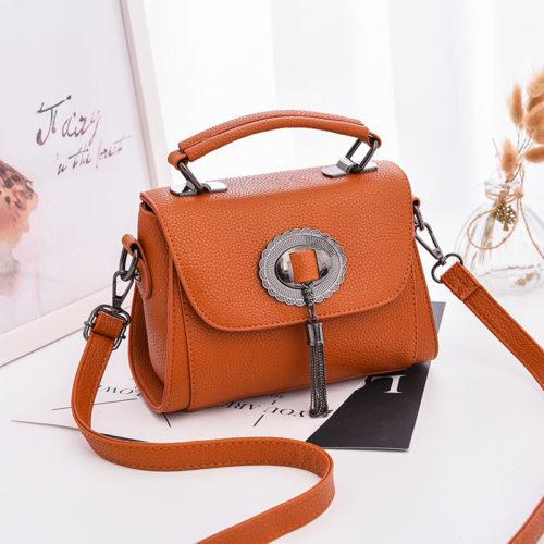 JT6972-brown Tas Handbag Tali Selempang Wanita Cantik Terbaru