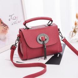 JT6972-darkpink Tas Handbag Tali Selempang Wanita Cantik Terbaru