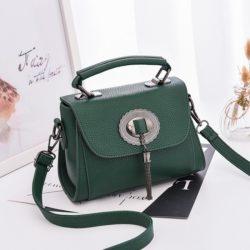 JT6972-green Tas Handbag Tali Selempang Wanita Cantik Terbaru