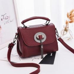 JT6972-wine Tas Handbag Tali Selempang Wanita Cantik Terbaru