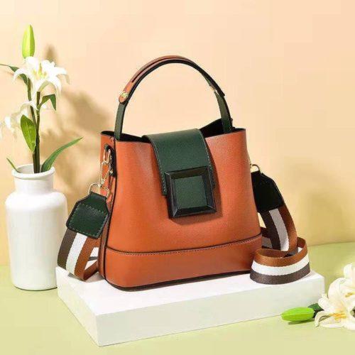 JT7008-brown Tas Selempang Handbag Fashion Modis Wanita Terbaru