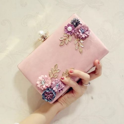 JT70099-pink Tas Pesta Import Wanita Cantik Terbaru
