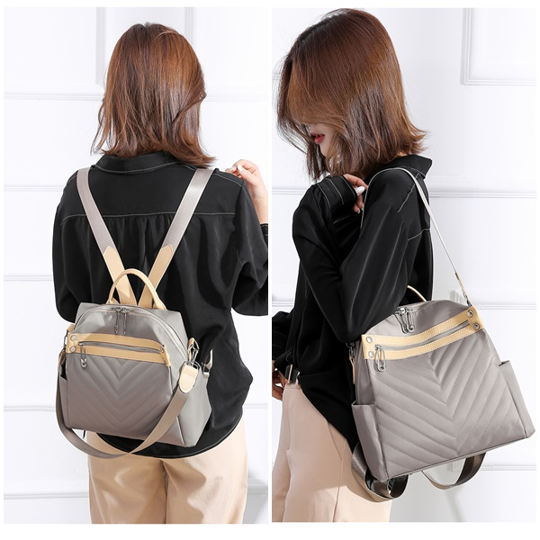JT7017 IDR.167.000 MATERIAL OXFORD SIZE L25XH26XW10CM WEIGHT 500GR COLOR KHAKI