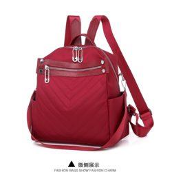 JT7017-red Tas Ransel Fashion Import Bisa Selempang