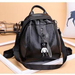 JT7032-black Tas Ransel Fashion Import Cantik Kekinian
