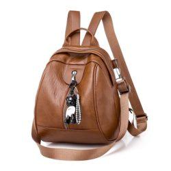 JT7032-brown Tas Ransel Fashion Import Cantik Kekinian