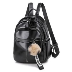 JT7039-black Tas Ransel Wanita Homme+Femme Pom Pom Import