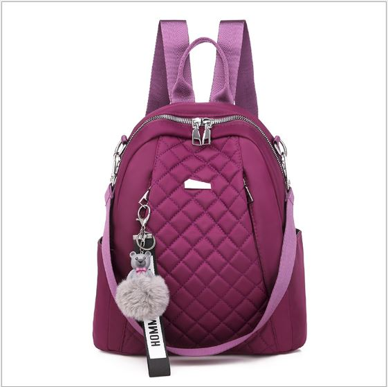 JT7113 IDR.155.000 MATERIAL OXFORD SIZE L26XH30XW11CM WEIGHT 550GR COLOR PURPLE