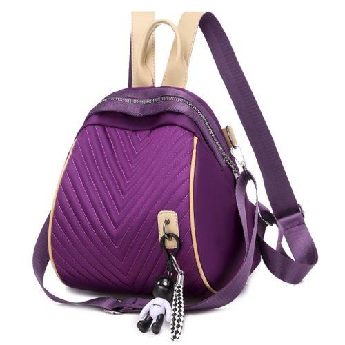 JT7115-purple Tas Ransel Wanita Terbaru Gantungan Black Bear