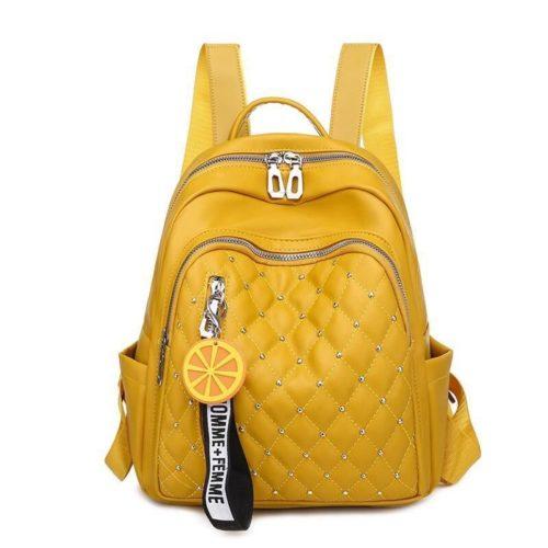 JT7132-yellow Tas Ransel Import Wanita Homme+Femme Lemon