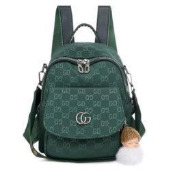 JT7156-green Tas Ransel Wanita Gantungan Baby Doll Import