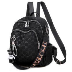 JT7157-black Tas Ransel GD Wanita Fashion Cantik Terbaru