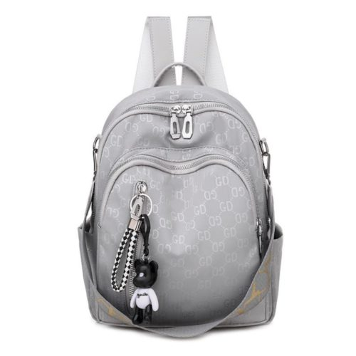 JT7157-gray Tas Ransel GD Wanita Fashion Cantik Terbaru