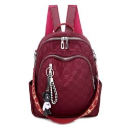 JT7157-red Tas Ransel GD Wanita Fashion Cantik Terbaru