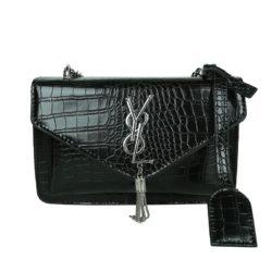 JT7231-black Tas Selempang Wanita Elegan Import Motif Croco