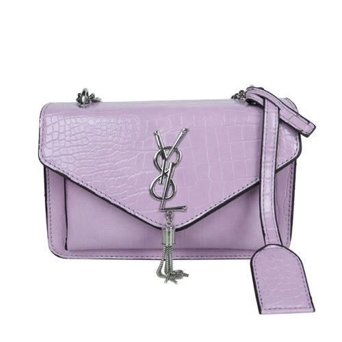 JT7231-purple Tas Selempang Wanita Elegan Import Motif Croco