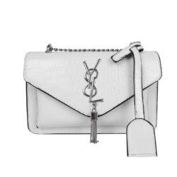 JT7231-white Tas Selempang Wanita Elegan Import Motif Croco