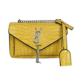JT7231-yellow Tas Selempang Wanita Elegan Import Motif Croco