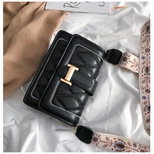 JT7497-black Tas Selempang Fashion Cantik Import
