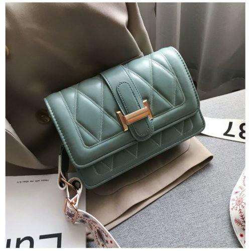 JT7497-green Tas Selempang Fashion Cantik Import