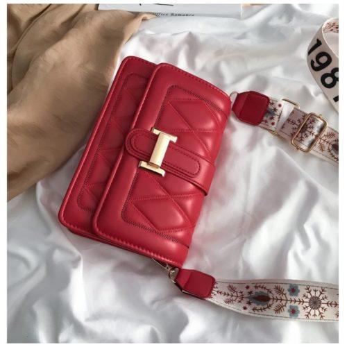 JT7497-red Tas Selempang Fashion Cantik Import