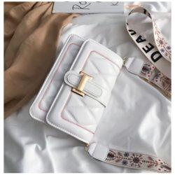 JT7497-white Tas Selempang Fashion Cantik Import