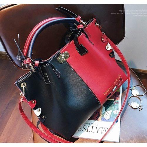 JT7528-blackred Tas Handbag Wanita Cantik Elegan Import
