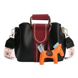 JT76543-black Tas Selempang Cantik Gantungan Pony Import