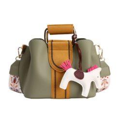 JT76543-green Tas Selempang Cantik Gantungan Pony Import