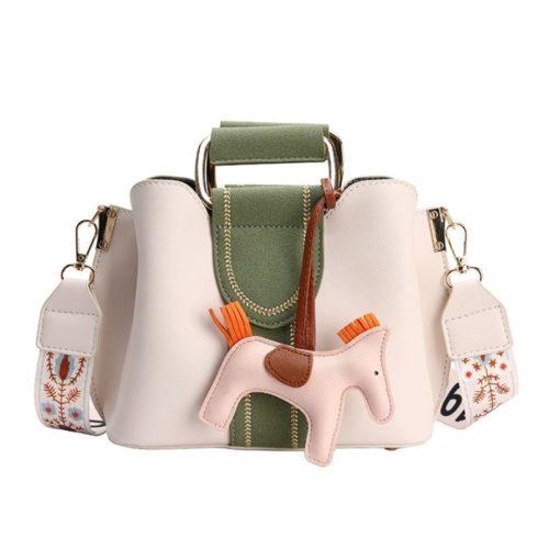 JT76543-white Tas Selempang Cantik Gantungan Pony Import