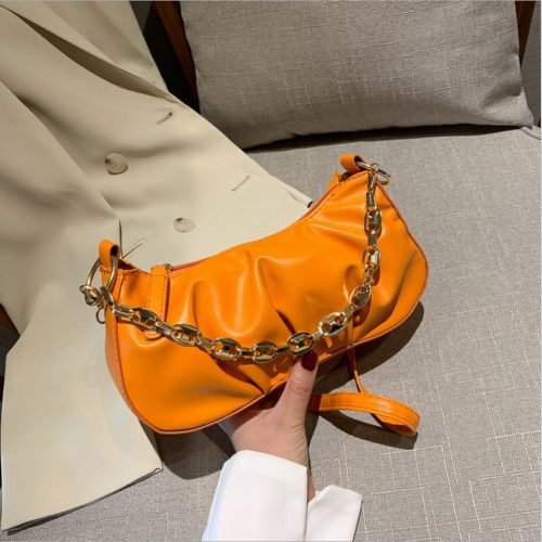JT7693-orange Tas Selempang Wanita Cantik Elegan (2 Tali)
