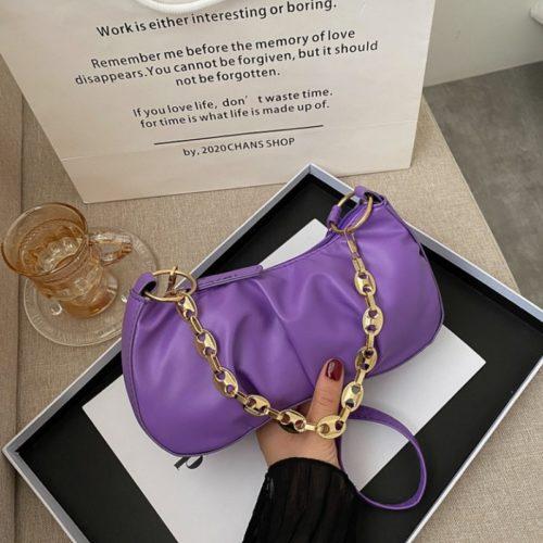 JT7693-purple Tas Selempang Wanita Cantik Elegan (2 Tali)
