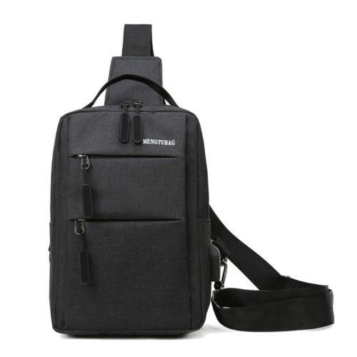JT7895B-black Tas Sling Bag Pria Modis Keren Terbaru Import