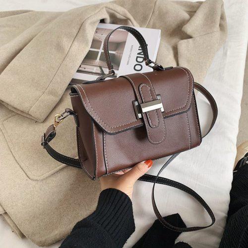 JT7986-brown Tas Handbag Selempang Fashion Wanita Elegan Import