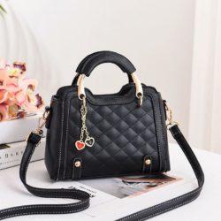 JT8011-black Tas Handbag Wanita Gantungan Twin Love Import