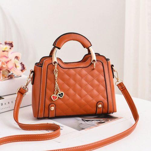 JT8011-brown Tas Handbag Wanita Gantungan Twin Love Import