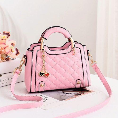 JT8011-pink Tas Handbag Wanita Gantungan Twin Love Import