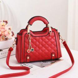 JT8011-red Tas Handbag Wanita Gantungan Twin Love Import