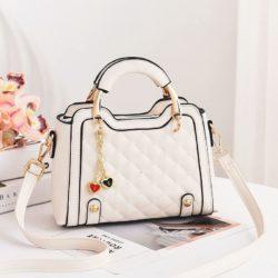 JT8011-white Tas Handbag Wanita Gantungan Twin Love Import