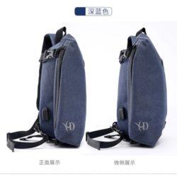 JT8019-blue Sling Bag Pria Modis Import Terbaru